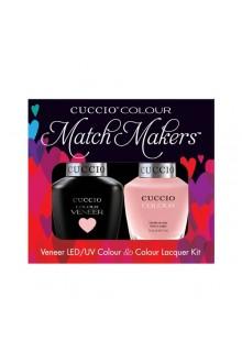 Cuccio Match Makers - Veneer LED/UV Colour & Colour Lacquer - Pinky Swear - 0.43oz / 13ml each