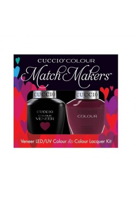 Cuccio Match Makers - Veneer LED/UV Colour & Colour Lacquer - Playing In Playa Del Carmen - 0.43oz / 13ml each