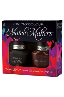 Cuccio Match Makers - Veneer LED/UV Colour & Colour Lacquer - Italian Collection - Pompeii It Forward - 0.43oz / 13ml each