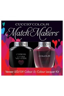 Cuccio Match Makers - Veneer LED/UV Colour & Colour Lacquer - Italian Collection - Positively Positano - 0.43oz / 13ml each