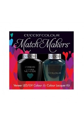 Cuccio Match Makers - Veneer LED/UV Colour & Colour Lacquer - Prince I've Been Gone 6169 - 0.43oz / 13ml each