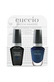 Cuccio Match Makers - Veneer LED/UV Colour & Colour Lacquer - Private Eye - 0.43oz / 13ml each