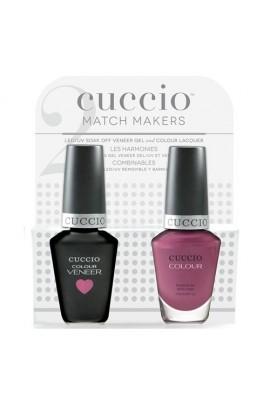 Cuccio Match Makers - Veneer LED/UV Colour & Colour Lacquer - Pulp Fiction - 0.43oz / 13ml each