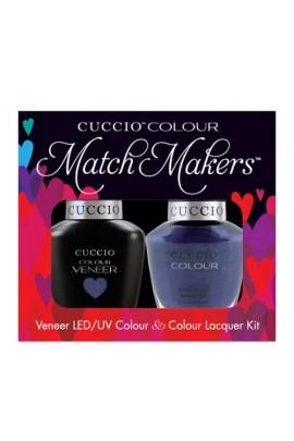 Cuccio Match Makers - Veneer LED/UV Colour & Colour Lacquer - Purple Rain in Spain - 0.43oz / 13ml each