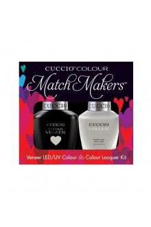 Cuccio Match Makers - Veneer LED/UV Colour & Colour Lacquer - Quicks As A Bunny - 0.43oz / 13ml each