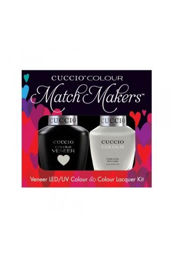 Cuccio Match Makers - Veneer LED/UV Colour & Colour Lacquer - Quicks As A Bunny - 0.43oz / 13ml each