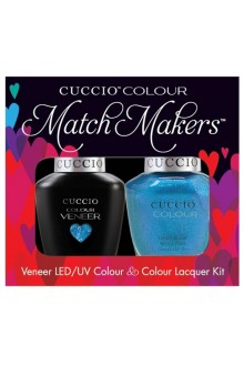 Cuccio Match Makers - Veneer LED/UV Colour & Colour Lacquer - Venice Beach 2016 Collection - Roller Skate! - 0.43oz / 13ml each