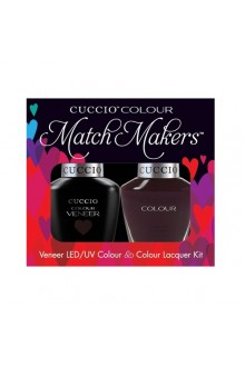 Cuccio Match Makers - Veneer LED/UV Colour & Colour Lacquer - Romania After Dark - 0.43oz / 13ml each