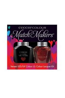 Cuccio Match Makers - Veneer LED/UV Colour & Colour Lacquer - Royal Flush 6167 - 0.43oz / 13ml each