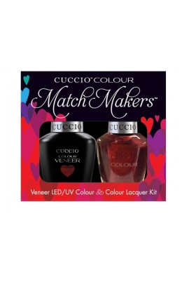 Cuccio Match Makers - Veneer LED/UV Colour & Colour Lacquer - Royal Flush 6167 - 0.43oz / 13ml each