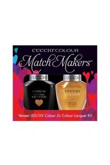 Cuccio Match Makers - Veneer LED/UV Colour & Colour Lacquer - Russian Opulence - 0.43oz / 13ml each