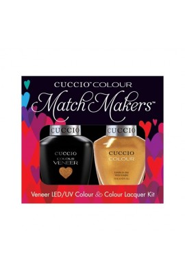 Cuccio Match Makers - Veneer LED/UV Colour & Colour Lacquer - Russian Opulence - 0.43oz / 13ml each