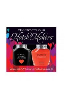 Cuccio Match Makers - Veneer LED/UV Colour & Colour Lacquer - Costa Rican Sunset - 0.43oz / 13ml each