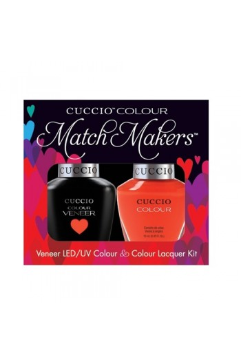 Cuccio Match Makers - Veneer LED/UV Colour & Colour Lacquer - Costa Rican Sunset - 0.43oz / 13ml each