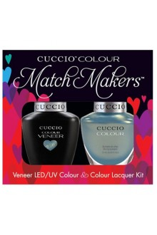 Cuccio Match Makers - Veneer LED/UV Colour & Colour Lacquer - Color Cruise Collection - Shore Thing - 0.43oz / 13ml each