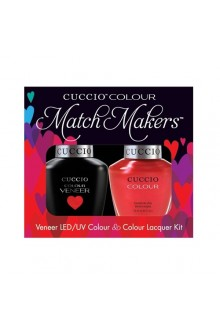 Cuccio Match Makers - Veneer LED/UV Colour & Colour Lacquer - Sicilian Summer - 0.43oz / 13ml each