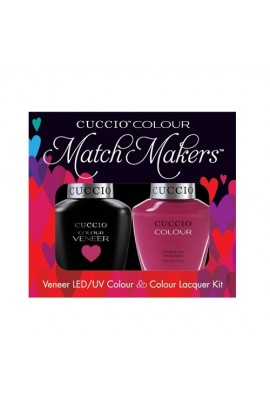 Cuccio Match Makers - Veneer LED/UV Colour & Colour Lacquer - Singapore Sling - 0.43oz / 13ml each