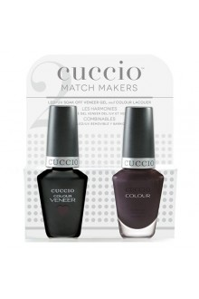 Cuccio Match Makers - Veneer LED/UV Colour & Colour Lacquer - Smoking Gun - 0.43oz / 13ml each