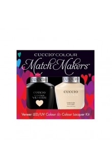 Cuccio Match Makers - Veneer LED/UV Colour & Colour Lacquer - So So Sofia - 0.43oz / 13ml each