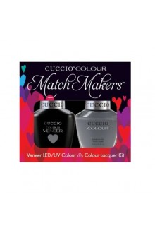Cuccio Match Makers - Veneer LED/UV Colour & Colour Lacquer - Soaked In Seattle - 0.43oz / 13ml each