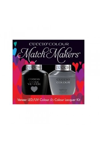 Cuccio Match Makers - Veneer LED/UV Colour & Colour Lacquer - Soaked In Seattle - 0.43oz / 13ml each