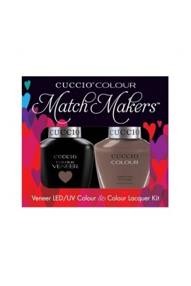 Cuccio Match Makers - Veneer LED/UV Colour & Colour Lacquer - Speeding On The German Autobahn - 0.43oz / 13ml each
