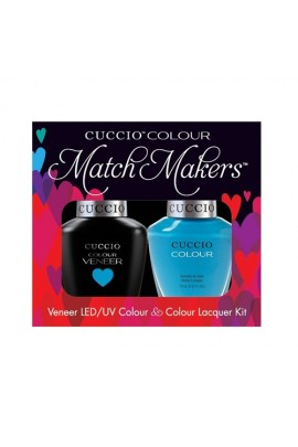 Cuccio Match Makers - Veneer LED/UV Colour & Colour Lacquer - St. Barts In A Bottle - 0.43oz / 13ml each