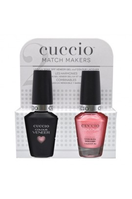Cuccio Match Makers - Veneer LED/UV Colour & Colour Lacquer - Strawberry Colada - 0.43oz / 13ml