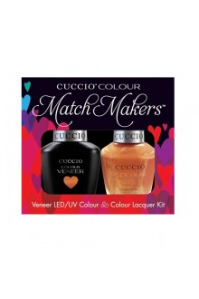 Cuccio Match Makers - Veneer LED/UV Colour & Colour Lacquer - Sun Kissed 6176 - 0.43oz / 13ml each