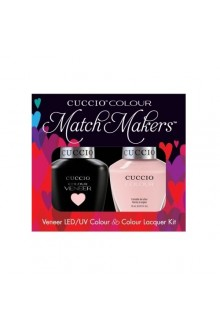 Cuccio Match Makers - Veneer LED/UV Colour & Colour Lacquer - Texas Rose - 0.43oz / 13ml each