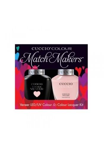Cuccio Match Makers - Veneer LED/UV Colour & Colour Lacquer - Texas Rose - 0.43oz / 13ml each