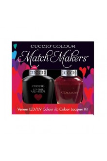 Cuccio Match Makers - Veneer LED/UV Colour & Colour Lacquer - That's So Kingky 6166 - 0.43oz / 13ml each