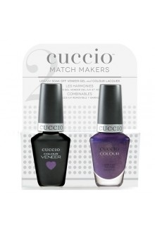 Cuccio Match Makers - Veneer LED/UV Colour & Colour Lacquer - Touch of Evil - 0.43oz / 13ml each