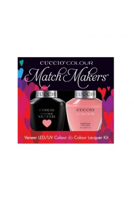 Cuccio Match Makers - Veneer LED/UV Colour & Colour Lacquer - Turkish Delight - 0.43oz / 13ml each