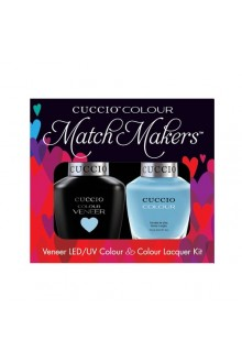 Cuccio Match Makers - Veneer LED/UV Colour & Colour Lacquer - Under a Blue Moon - 0.43oz / 13ml each
