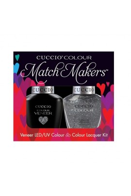 Cuccio Match Makers - Veneer LED/UV Colour & Colour Lacquer - Vegas Vixen - 0.43oz / 13ml each