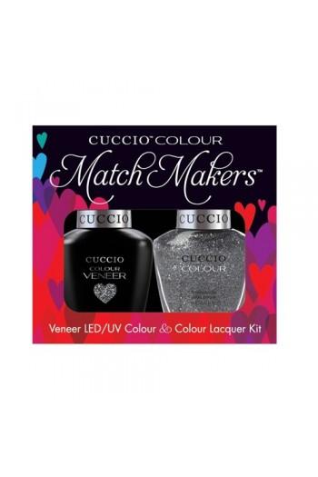 Cuccio Match Makers - Veneer LED/UV Colour & Colour Lacquer - Vegas Vixen - 0.43oz / 13ml each