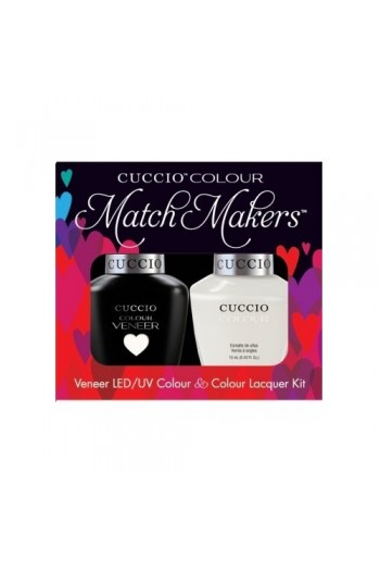 Cuccio Match Makers - Veneer LED/UV Colour & Colour Lacquer - Verona Lace - 0.43oz / 13ml each