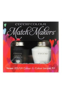 Cuccio Match Makers - Veneer LED/UV Colour & Colour Lacquer - White Russian - 0.43oz / 13ml each