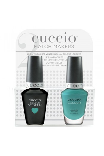 Cuccio Match Makers - Veneer LED/UV Colour & Colour Lacquer - Who Dunn It? - 0.43oz / 13ml each