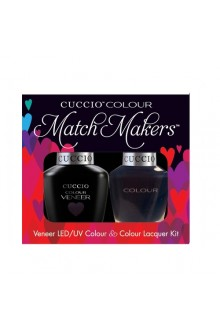 Cuccio Match Makers - Veneer LED/UV Colour & Colour Lacquer - Wild Knights 6163 - 0.43oz / 13ml each