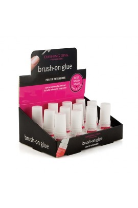 Dashing Diva - Brush-On Glue - 0.11oz / 3g - 12-Piece Display
