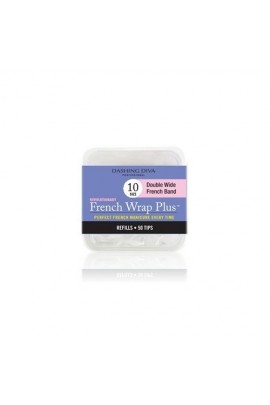 Dashing Diva - French Wrap Plus / Thick French Band - White Refills 50ct #10