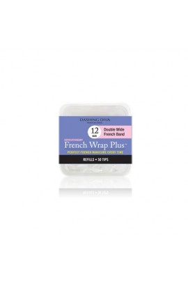 Dashing Diva - French Wrap Plus / Thick French Band - White Refills 50ct #12