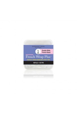 Dashing Diva - French Wrap Plus / Thick French Band - White Refills 50ct #1
