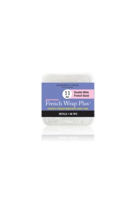 Dashing Diva - French Wrap Plus / Thick French Band - White Refills 50ct #11