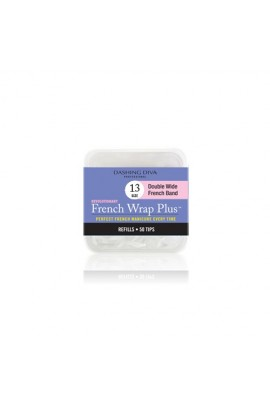 Dashing Diva - French Wrap Plus / Thick French Band - White Refills 50ct #13