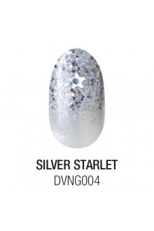 Dashing Diva - Glam Gel - Silver Starlet - 24 Nails / 12 Sizes