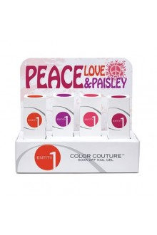 Entity One Color Couture Soak Off Gel Polish - Peace, Love & Paisley 2015 Collection - ALL 4 Colors - 0.5oz / 15ml EACH