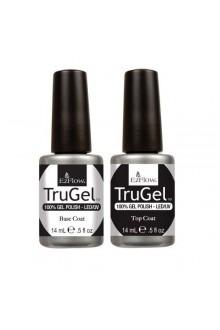 EzFlow TruGel LED/UV Gel Polish - Base Coat & Top Coat - 0.5oz / 14ml